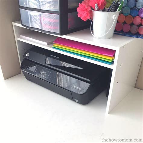 organization hack diy desktop printer shelf   shoe