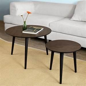 Couchtisch Set Rund : sobuy 2er set couchtisch beistelltisch tisch set ~ Whattoseeinmadrid.com Haus und Dekorationen