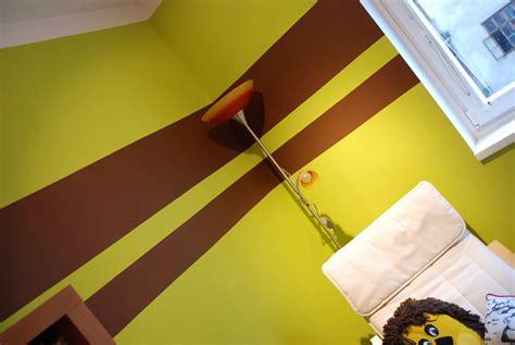 Kinderzimmer Wandgestaltung Streifen by Wandgestaltung Streifen Wohnzimmer Wohnideen