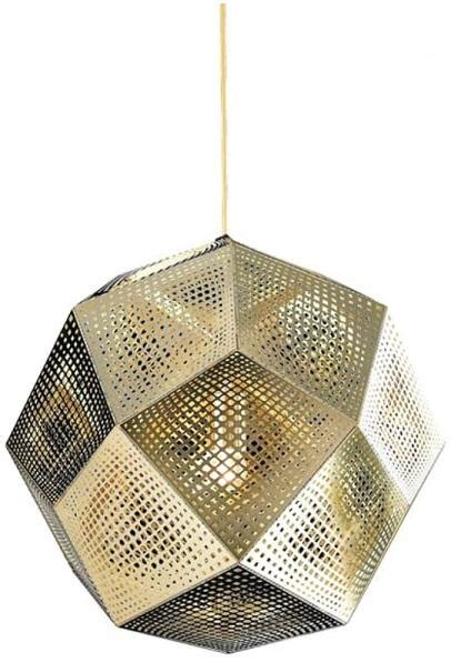 tom dixon etch shade replica pendant light gold extra large