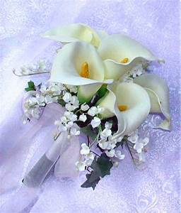 WEDDING SET Ivory Or White Calla Lily Lilies Bride