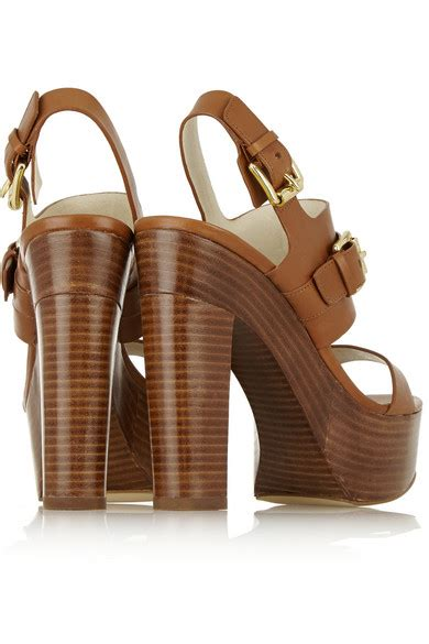 michael michael kors beatrice leather platform sandals net a porter