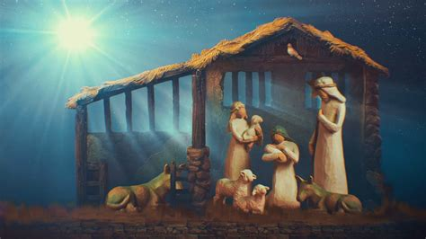 Animated Nativity Wallpaper - nativity animated looping background stock