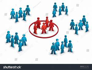 Six Groups Of People, One Different Symbolizing The Target ...