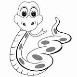 Snakes Coloring Printable Snake Simple Cartoon Filminspector sketch template