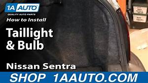 How To Install Replace Taillight And Bulb Nissan Sentra 02