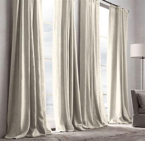 restoration hardware curtains belgian textured linen drapery grommet style 50 quot w 84 quot l