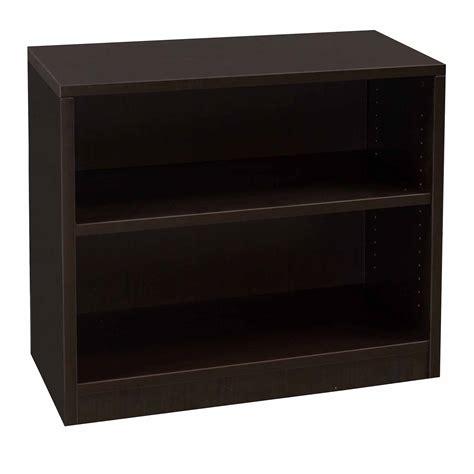 two shelf bookcase everyday 30 in 2 shelf laminate bookcase espresso