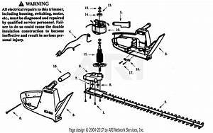 Poulan Ht1950 Electric Hedgetrimmer Parts Diagram For