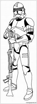Clone Trooper Coloring Adults sketch template