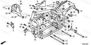 Honda Motorcycle 2017 Oem Parts Diagram For Frame