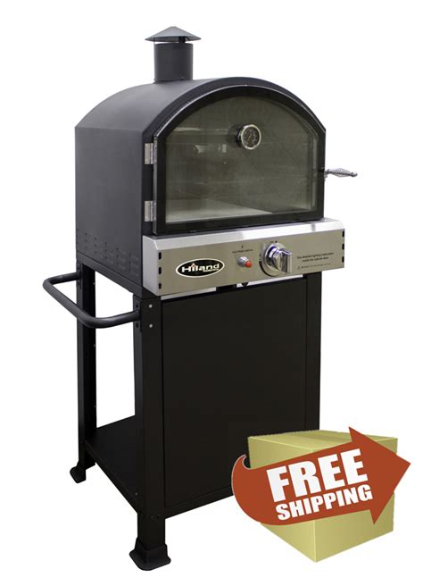 hiland propane pizza oven with outdoor patio