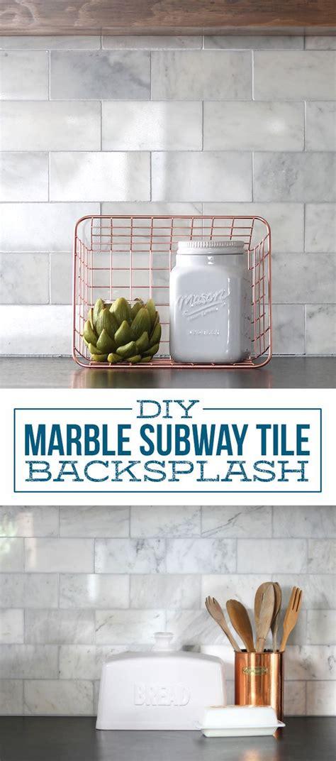 diy marble subway tile backsplash tips tricks