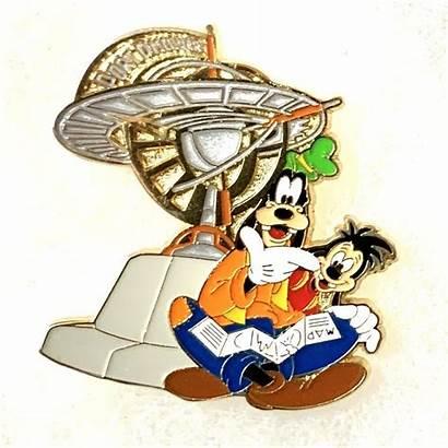 Goofy Reading Disney Mickey Pins Japan Map