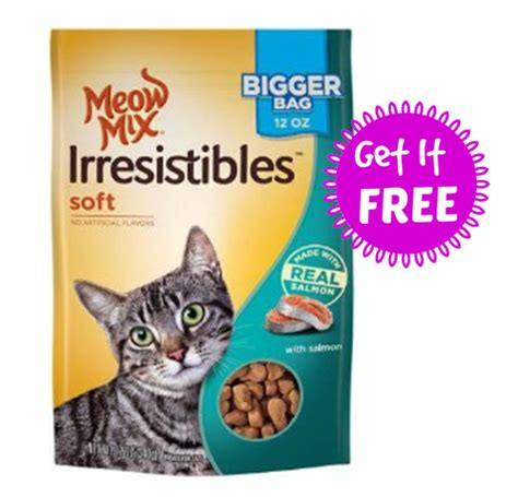is meow mix for cats kroger free meow mix irresistibles cat treat today only
