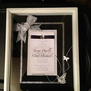 288 best images about bridal shower ideas on pinterest With wedding invitation in shadow box