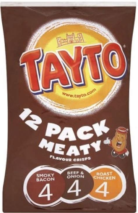 Tayto 12 Pack Variety Meaty Crisps | Approved Food