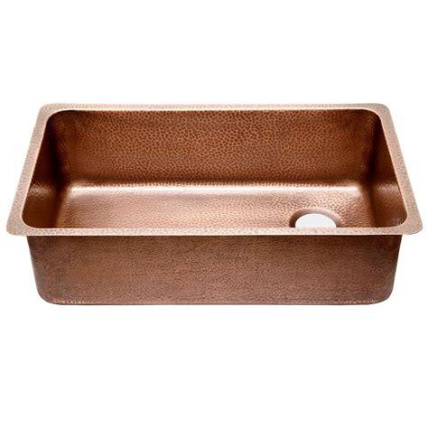 undermount copper kitchen sinks sinkology david chef series undermount copper sink 31 in 6578
