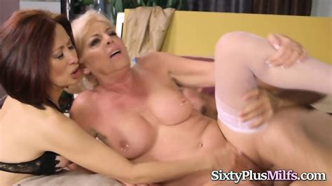 Two Hot Grannies Love Threesome Sex With Big Cock Eporner