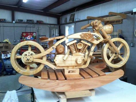wooden motorcycle rocker images  pinterest wood toys rocking horses  woodwork