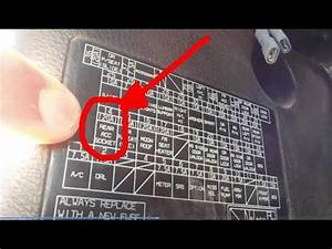 Honda Accord  Replace Fuse For 12v Power Outlet In Rear