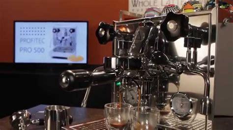 semi automatic espresso machine india profitec pro 500 espresso machine overview doovi