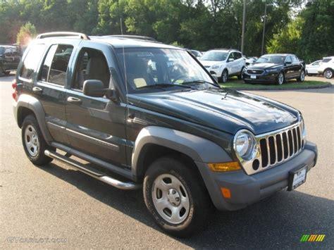 jeep gray color 2005 deep beryl green pearl jeep liberty sport 4x4