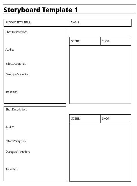 video production storyboard template   toon