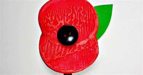 remembrance day poppy craft messy  monster