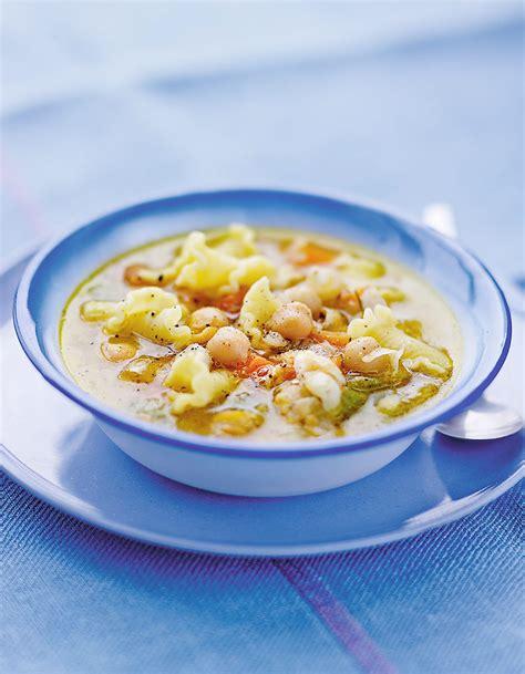 cuisine pois chiche soupe aux pâtes et pois chiches pour 6 personnes
