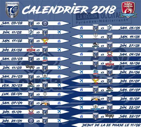 Le calendrier du Championship 2018 dévoilé Fédération
