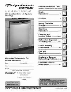 Frigidaire Dishwasher 900 Series User U0026 39 S Guide