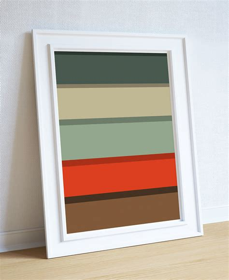 modern color palette mid century modern print color palette abstract print