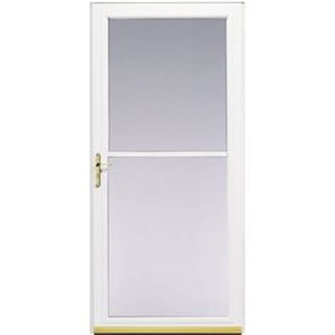 shop pella 174 32 quot white montgomery rolscreen 174 door at