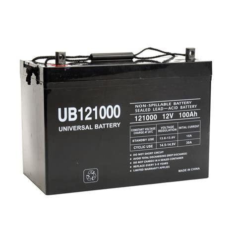 agm batterie 100ah ub121000 45978 universal 12v 100ah cycle sealed agm battery ub121000