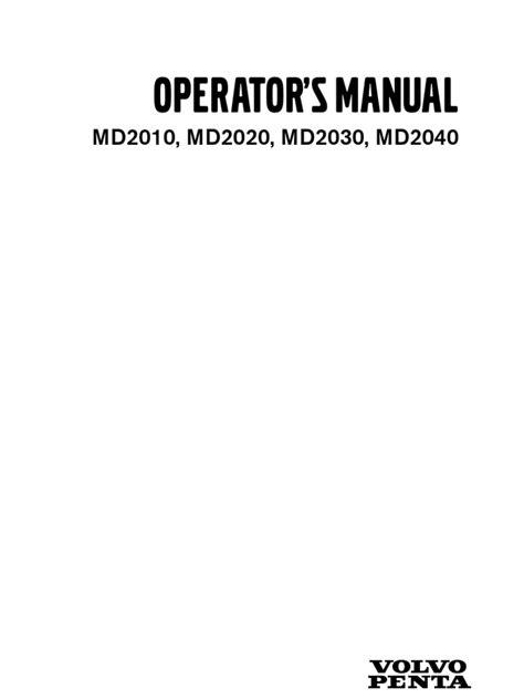 volvo penta md operation manual battery