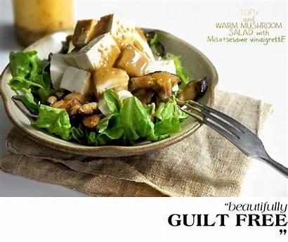 Salad Mushroom Warm Tofu Ladyandpups