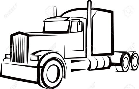 Semi Truck Clipart Semi Truck Drawing Www Pixshark Images Galleries