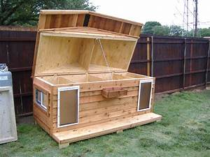 Dog house for two custom large heated insulated dog for Large insulated dog house
