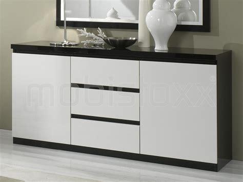 fabricant de cuisine haut de gamme buffet bahut romeo 2 portes et 3 tiroirs noir laque blanc laque chez mobistoxx