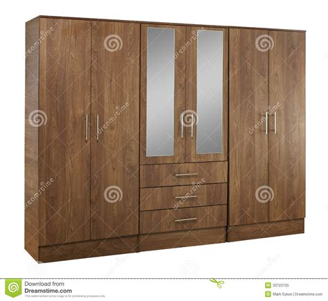 Brown Wood Wardrobe by Brown Wood Wardrobe Isolated On White Background Stock