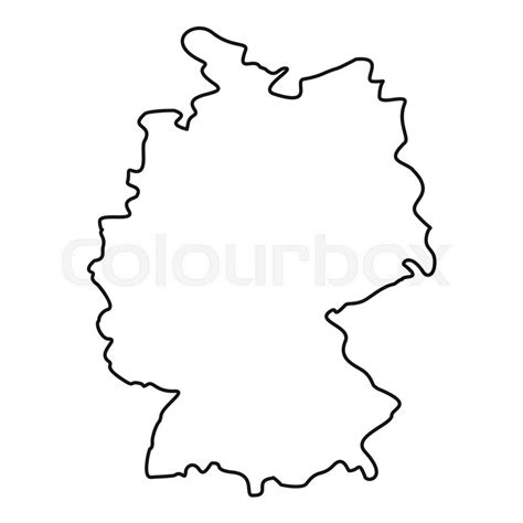 This is a thumbnail of the outline map of germany. Germany map icon. Outline illustration of germany map ...