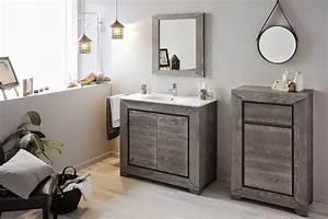 meuble salle de bain bois gris mzaolcom With meuble salle de bain design gris
