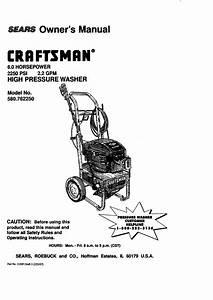 Craftsman 580 762250 User Manual