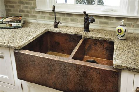 copper farmhouse kitchen sinks farmhouse sink options for kitchen homesfeed