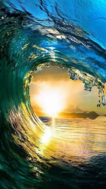 Iphone Wave Water Sea Sky Waves Wallpapers