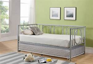twin bed with pull out slide out trundle bed underneath With daybed with trundle for small spaces