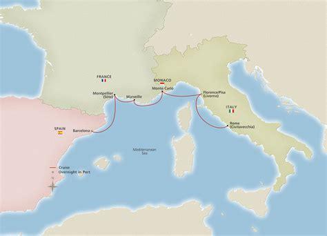 iconic western mediterranean barcelona  rome cruise