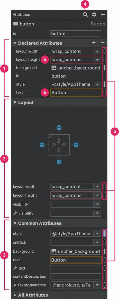 Layout Android Editor Ui Studio Attributes Edit