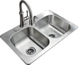 tuscany 9 quot stainless steel double bowl kitchen sink kit at